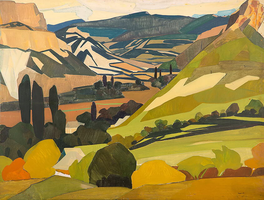 Photo of Valery Geghamyan`s painting #028 «Crimea. Valley I»