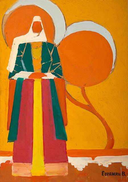 Фотографія картини Валерія Гегамяна #164 «Вірменка на фоні помаранчевого дерева»