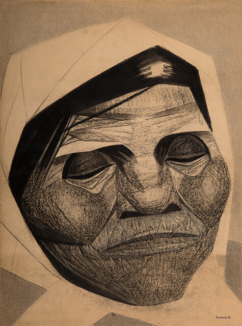 Drawing of Valery Geghamyan #222 «An Image in a KerchiefI» photo
