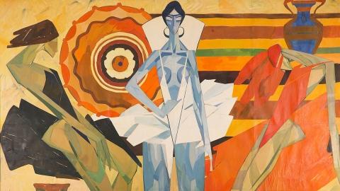 «Она чувствует себя богиней» титульное произведение выставки