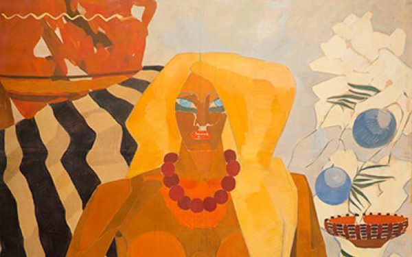 Photo of Valery Geghamyan`s painting #001 «Blue-Eyed»
