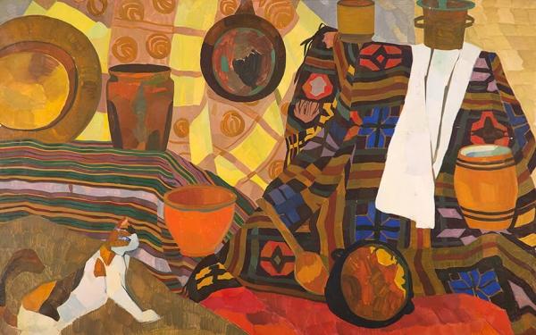 Фотография картины Валерия Гегамяна #022 «Натюрморт с кошкой»
