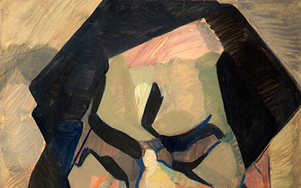 Photo of Valery Geghamyan`s painting #066 «Image of Stranger»