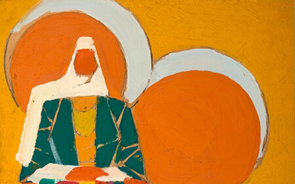 Photo of Valery Geghamyan`s painting #164 «Armenian Woman Against the Background of an Orange Tree»