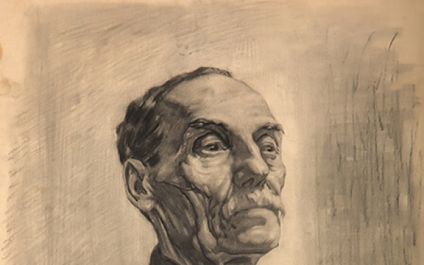 Drawing of Valery Geghamyan #224 «student work 'An Old Man in Black'» photo