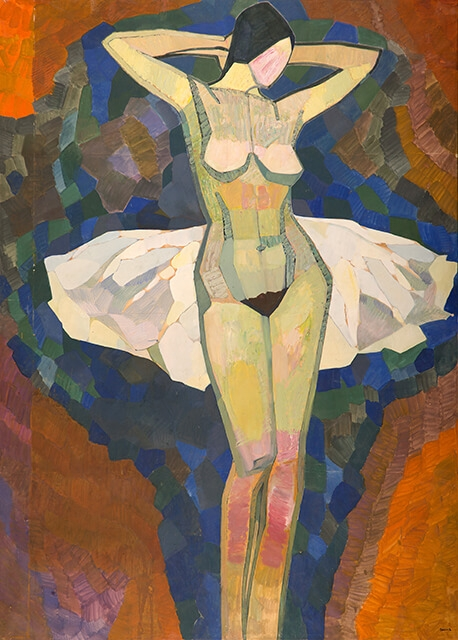 Photo of Valery Geghamyan`s painting #021 «Naked Ballerina»