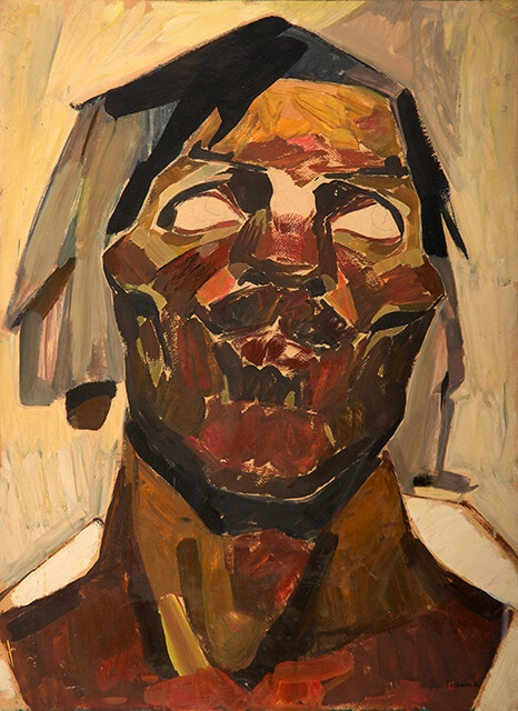 Photo of Valery Geghamyan`s painting #065 «Head against a Grey Background»