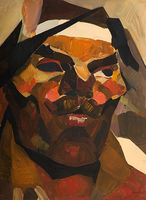 Photo of Valery Geghamyan`s painting #117 «Head of One-Eyed»