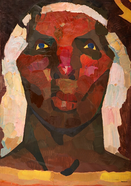 Photo of Valery Geghamyan`s painting #138 «Head in a White Band I»