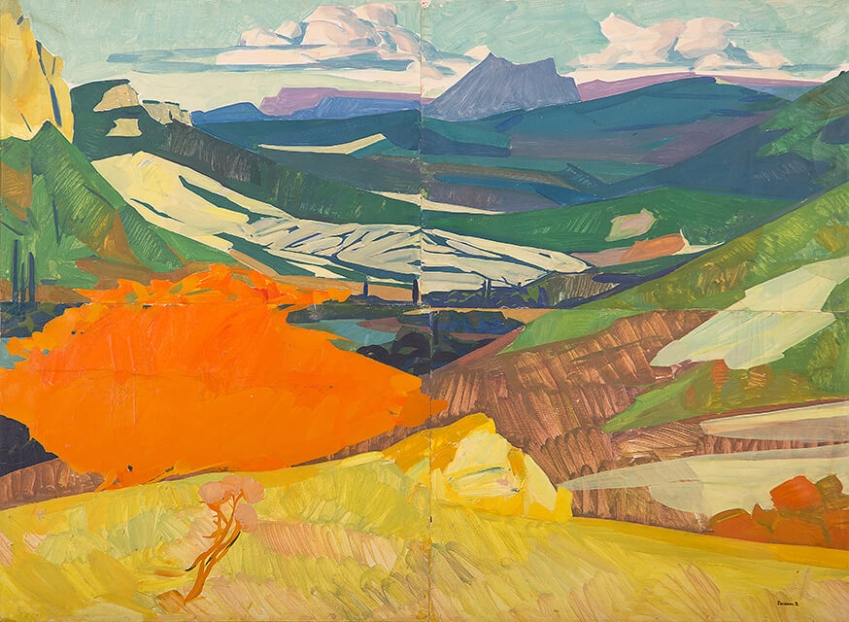 Photo of Valery Geghamyan`s painting #179 «Crimea. Wheat Field»