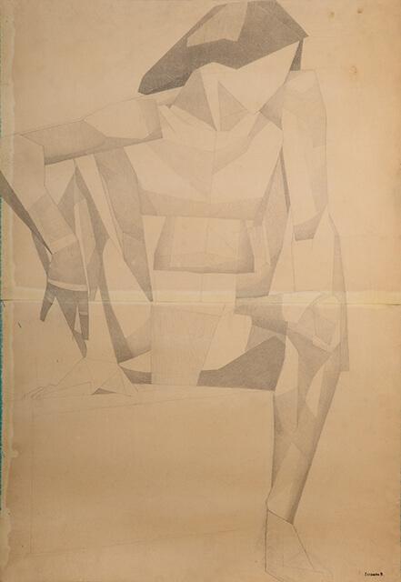 Рисунок Валерия Гегамяна #187 «Молодая натурщица с согнутой ногой» фото