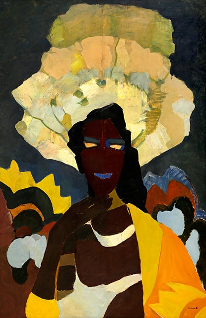 Photo of Valery Geghamyan`s painting #338 «An African in Yellow»