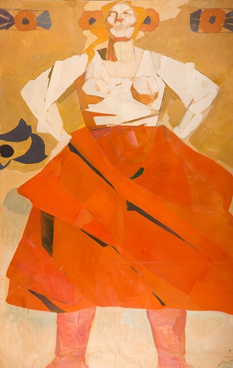 Photo of Valery Geghamyan`s painting #009 «Red Skirt»