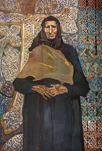 Photo of Valery Geghamyan`s painting #052 «Elderly Armenian Woman»