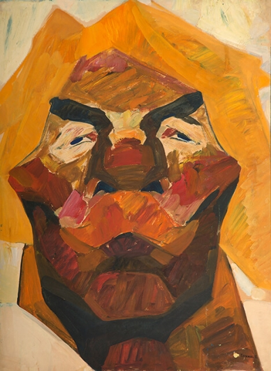 Photo of Valery Geghamyan`s painting #111 «Head of Red-Haired Man with Mustache»