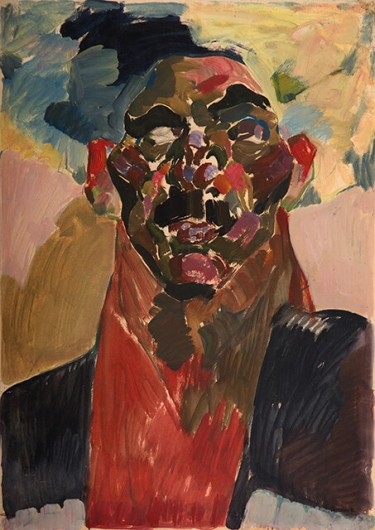 Photo of Valery Geghamyan`s painting #121 «Head in Papakha»